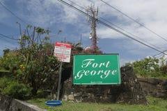 圣乔治`的s,格林纳达历史乔治堡 图库摄影