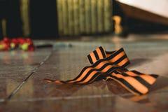 圣乔治胜利的丝带标志 库存图片