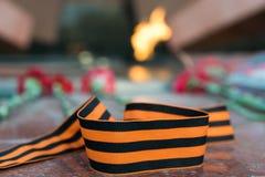 圣乔治胜利的丝带标志 免版税图库摄影
