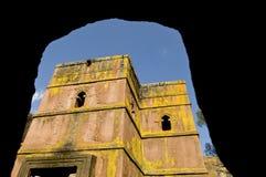 圣乔治(赌注giorgis), Lalibela,埃塞俄比亚教会  库存图片