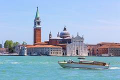 圣乔治di Maggiore教会,威尼斯,意大利 库存照片