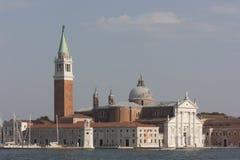 圣乔治Maggiore大教堂全景在威尼斯,它 免版税库存照片