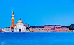 圣乔治Maggiore教会在威尼斯,意大利 免版税库存照片