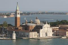 圣乔治Maggiore,威尼斯逃出克隆岛  免版税库存图片