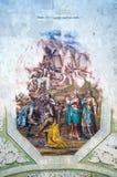 圣乔治` s教会内部绘画在Yuryev-Polsky 免版税图库摄影