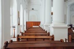 圣乔治` s教会是19世纪英国国教的教堂在市乔治市在槟榔岛,马来西亚 库存图片