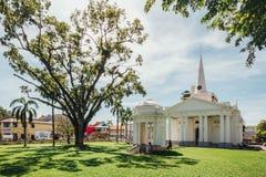 圣乔治` s教会是19世纪英国国教的教堂在市乔治市在槟榔岛,马来西亚 库存照片