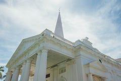 圣乔治` s教会是19世纪英国国教的教堂在市乔治市在槟榔岛,马来西亚 免版税图库摄影