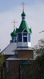 圣亚历山大・涅夫斯基大教堂教会在Ignatievo阿穆尔河地区村庄  库存图片