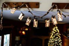 圣人圣诞节装饰 免版税库存照片