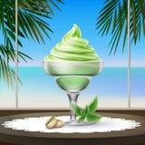 圣代冰淇淋冰淇凌 向量例证