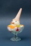 圣代冰淇淋 免版税库存照片