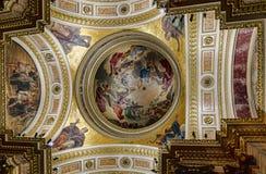 圣以撒` s大教堂圆顶  库存图片