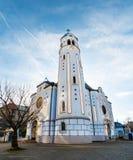 圣伊丽莎白蓝色教会在布拉索夫,日间斯洛伐克 免版税库存照片