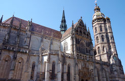 圣伊丽莎白,科希策,斯洛伐克大教堂  库存照片