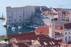 圣伊冯和小游艇船坞堡垒在老杜布罗夫尼克 免版税库存图片