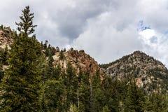 圣伊莎贝尔国家森林落矶山脉视图在科罗拉多 免版税库存图片