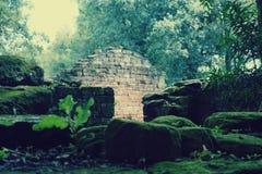 圣伊廖齐废墟,密西昂奈斯,阿根廷 免版税图库摄影