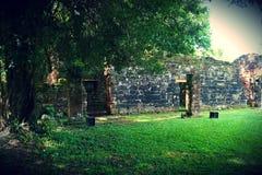 圣伊廖齐废墟,密西昂奈斯,阿根廷 库存照片