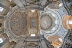 圣休伯特, Venaria,都灵,意大利教会  库存照片