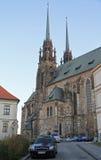 圣伯多禄和保罗大教堂在布尔诺 库存图片
