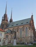 圣伯多禄和保罗大教堂在布尔诺 图库摄影