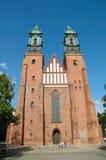 圣伯多禄和保罗大教堂在波兹南,波兰 图库摄影