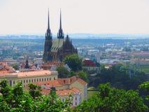 圣伯多禄和保罗大教堂 布尔诺捷克共和国 免版税库存照片