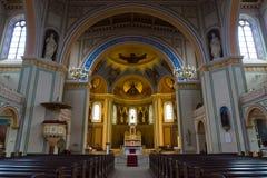 圣伯多禄和圣保罗罗马天主教堂的内部。 免版税图库摄影