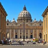 圣伯多禄大教堂梵蒂冈的,意大利 图库摄影