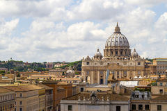 圣伯多禄的圆顶在罗马,梵蒂冈 库存图片