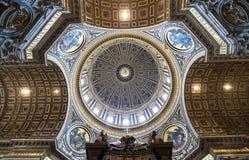 圣伯多禄的大教堂罗马 免版税库存图片