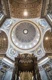 圣伯多禄的大教堂罗马 图库摄影