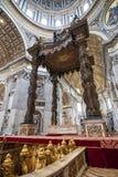 圣伯多禄的大教堂罗马 库存图片