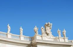 圣伯多禄雕塑 图库摄影