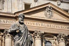 圣伯多禄雕象广场的圣彼得罗,梵蒂冈 免版税库存照片