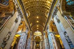 圣伯多禄,罗马,意大利 图库摄影