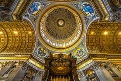 圣伯多禄,罗马,意大利 库存图片