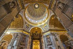 圣伯多禄,罗马,意大利 免版税库存图片