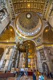 圣伯多禄,罗马,意大利 免版税库存照片