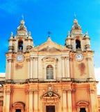 圣伯多禄&保罗大教堂姆迪纳的。马耳他 图库摄影