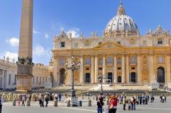 圣伯多禄` S大教堂,罗马, ITALY-APRIL 13 库存图片