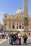 圣伯多禄` S大教堂,罗马, ITALY-APRIL 13 库存照片
