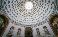 圣伯纳德alle Terme教会在罗马,意大利 图库摄影