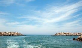 圣何塞台尔Cabo港口在Cabo圣卢卡斯下加利福尼亚州墨西哥 免版税库存照片