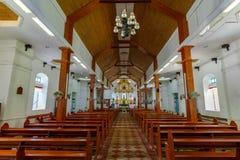 圣何塞Borromeo教会,巴丹群岛省的2017 9月22日,里面 库存照片