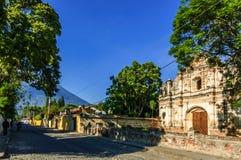 圣何塞el Viejo废墟,安提瓜岛,危地马拉 免版税库存照片