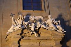 圣佛罗伦萨,佛罗伦萨,意大利教会的门户  库存照片