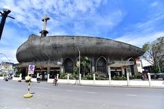 圣佩德罗火山大教堂在达沃,菲律宾 免版税库存图片