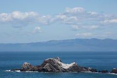 圣佩德罗火山岩石, Pacifica,圣马特奥县,加利福尼亚 库存图片